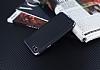 Eiroo Matte Fit LG Q6 Siyah Kenarlı Siyah Silikon Kılıf - Resim 2