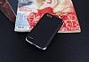 Eiroo Matte Fit LG Q6 Siyah Kenarlı Siyah Silikon Kılıf - Resim 1