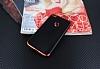Eiroo Matte Fit Huawei P9 Lite 2017 Kırmızı Kenarlı Siyah Silikon Kılıf - Resim 1