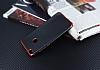 Eiroo Matte Fit Huawei P9 Lite 2017 Kırmızı Kenarlı Siyah Silikon Kılıf - Resim 2