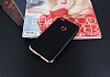 Eiroo Matte Fit Huawei P9 Lite 2017 Rose Gold Kenarlı Siyah Silikon Kılıf - Resim 1