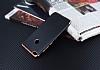 Eiroo Matte Fit Huawei P9 Lite 2017 Rose Gold Kenarlı Siyah Silikon Kılıf - Resim 2