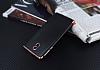 Eiroo Matte Fit Nokia 3 Rose Gold Kenarlı Siyah Silikon Kılıf - Resim 2