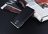 Eiroo Matte Fit Nokia 3 Silver Kenarlı Siyah Silikon Kılıf - Resim 2