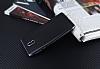 Eiroo Matte Fit Nokia 3 Dark Silver Kenarlı Siyah Silikon Kılıf - Resim 2