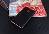 Eiroo Matte Fit Nokia 3 Kırmızı Kenarlı Siyah Silikon Kılıf - Resim 1