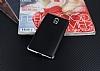 Eiroo Matte Fit Nokia 3 Silver Kenarlı Siyah Silikon Kılıf - Resim 1