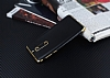 Eiroo Matte Fit Nokia 5 Gold Kenarlı Siyah Silikon Kılıf - Resim 2
