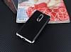 Eiroo Matte Fit Nokia 5 Silver Kenarlı Siyah Silikon Kılıf - Resim 1