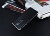 Eiroo Matte Fit Nokia 5 Silver Kenarlı Siyah Silikon Kılıf - Resim 2