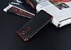 Eiroo Matte Fit Nokia 5 Kırmızı Kenarlı Siyah Silikon Kılıf - Resim 2