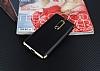 Eiroo Matte Fit Nokia 5 Gold Kenarlı Siyah Silikon Kılıf - Resim 1