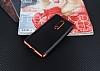 Eiroo Matte Fit Nokia 5 Kırmızı Kenarlı Siyah Silikon Kılıf - Resim 1
