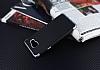 Eiroo Matte Fit Samsung Galaxy A5 2016 Silver Kenarlı Siyah Silikon Kılıf - Resim 1
