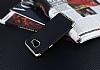 Eiroo Matte Fit Samsung Galaxy A5 2016 Gold Kenarlı Siyah Silikon Kılıf - Resim 1