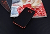 Eiroo Matte Fit Samsung Galaxy A5 2016 Kırmızı Kenarlı Siyah Silikon Kılıf - Resim 1