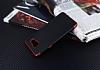 Eiroo Matte Fit Samsung Galaxy A5 2016 Kırmızı Kenarlı Siyah Silikon Kılıf - Resim 2