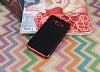 Eiroo Matte Fit Samsung Galaxy J3 Pro Kırmızı Kenarlı Siyah Silikon Kılıf - Resim 1
