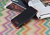 Eiroo Matte Fit Samsung Galaxy J7 2016 Kırmızı Kenarlı Siyah Silikon Kılıf - Resim 2