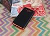 Eiroo Matte Fit Samsung Galaxy J7 2016 Kırmızı Kenarlı Siyah Silikon Kılıf - Resim 1