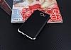 Eiroo Matte Fit Samsung Galaxy J7 Prime Silver Kenarlı Siyah Silikon Kılıf - Resim 1