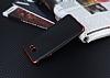 Eiroo Matte Fit Samsung Galaxy J7 Prime Kırmızı Kenarlı Siyah Silikon Kılıf - Resim 2