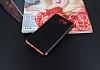 Eiroo Matte Fit Samsung Galaxy J7 Prime Kırmızı Kenarlı Siyah Silikon Kılıf - Resim 1