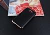 Eiroo Matte Fit Samsung Galaxy J7 Prime Rose Gold Kenarlı Siyah Silikon Kılıf - Resim 1