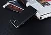 Eiroo Matte Fit Samsung Galaxy J7 Prime Silver Kenarlı Siyah Silikon Kılıf - Resim 2