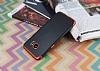Eiroo Matte Fit Samsung Galaxy S7 Edge Kırmızı Kenarlı Siyah Silikon Kılıf - Resim 2