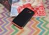 Eiroo Matte Fit Samsung Galaxy S7 Edge Kırmızı Kenarlı Siyah Silikon Kılıf - Resim 1