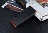 Eiroo Matte Fit Samsung Galaxy S8 Kırmızı Kenarlı Siyah Silikon Kılıf - Resim 2