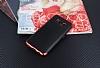 Eiroo Matte Fit Samsung Galaxy S8 Kırmızı Kenarlı Siyah Silikon Kılıf - Resim 1