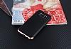 Eiroo Matte Fit Samsung Galaxy S8 Plus Rose Gold Kenarlı Siyah Silikon Kılıf - Resim 1