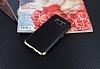 Eiroo Matte Fit Samsung Galaxy S8 Plus Gold Kenarlı Siyah Silikon Kılıf - Resim 1