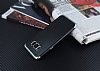 Eiroo Matte Fit Samsung Galaxy S8 Plus Silver Kenarlı Siyah Silikon Kılıf - Resim 2