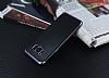 Eiroo Matte Fit Samsung Galaxy S8 Plus Dark Silver Kenarlı Siyah Silikon Kılıf - Resim 2