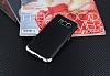 Eiroo Matte Fit Samsung Galaxy S8 Plus Silver Kenarlı Siyah Silikon Kılıf - Resim 1