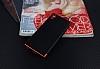 Eiroo Matte Fit Sony Xperia XA1 Kırmızı Kenarlı Siyah Silikon Kılıf - Resim 1