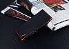 Eiroo Matte Fit Sony Xperia XA1 Kırmızı Kenarlı Siyah Silikon Kılıf - Resim 2