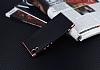 Eiroo Matte Fit Sony Xperia XA1 Rose Gold Kenarlı Siyah Silikon Kılıf - Resim 2