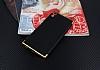 Eiroo Matte Fit Sony Xperia XA1 Ultra Gold Kenarlı Siyah Silikon Kılıf - Resim 1