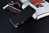 Eiroo Matte Fit Sony Xperia XA1 Ultra Silver Kenarlı Siyah Silikon Kılıf - Resim 2