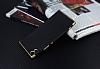 Eiroo Matte Fit Sony Xperia XA1 Ultra Gold Kenarlı Siyah Silikon Kılıf - Resim 2