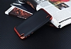 Eiroo Matte Fit Vestel Venus 5530 Kırmızı Kenarlı Siyah Silikon Kılıf - Resim 1