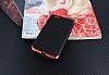 Eiroo Matte Fit Vestel Venus Z10 Kırmızı Kenarlı Siyah Silikon Kılıf - Resim 2