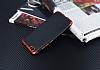 Eiroo Matte Fit Vestel Venus Z10 Kırmızı Kenarlı Siyah Silikon Kılıf - Resim 1