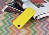 Eiroo Mellow LG Q6 Ultra Sarı Rubber Kılıf - Resim 1