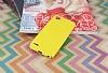 Eiroo Mellow LG Q6 Ultra Sarı Rubber Kılıf - Resim 2