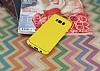 Eiroo Mellow Samsung Galaxy S8 Plus Sarı Silikon Kılıf - Resim 1